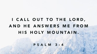 Psalm 3 from the mountain