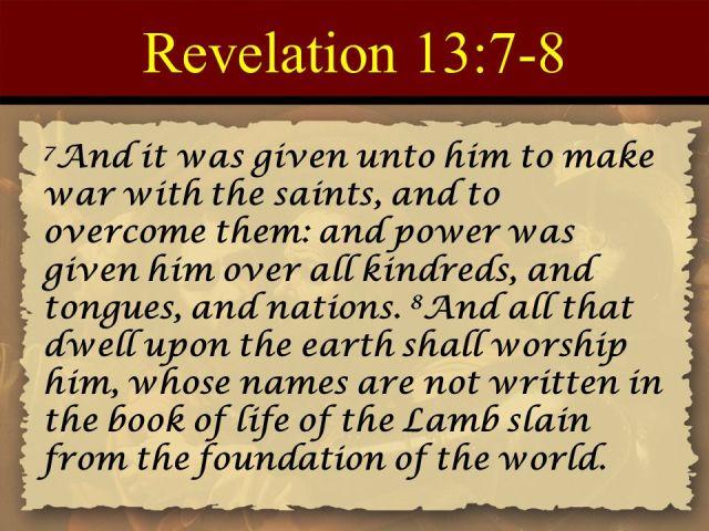 Revelation 13 war with the saints