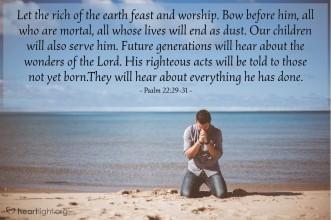 Psalm 22 beach