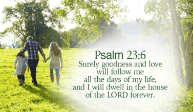 Psalm 23 follow
