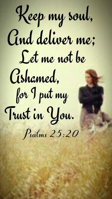 Psalm 25 keep me
