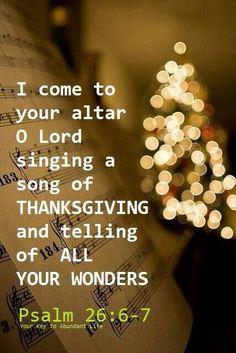 Psalm 26 singing