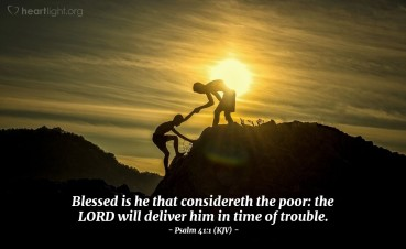 Psalm 41 help the weak