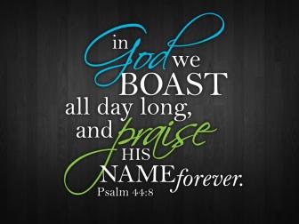 Psalm 44 8 boast