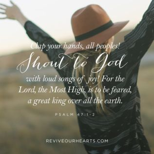 Psalm 47 shout