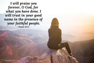 Psalm 52 9 praise God
