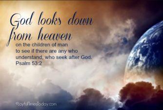 Psalm 53 God looks down