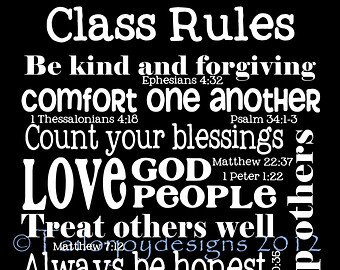 Psalm 58 class rules