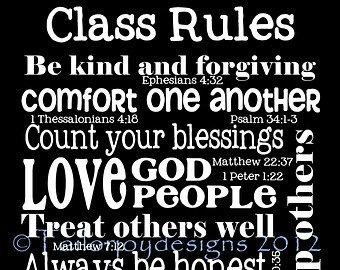 Psalm 58 class rules