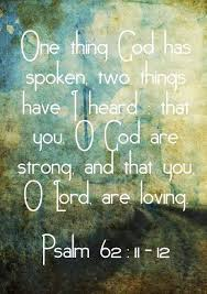 Psalm 62 11
