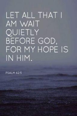 Psalm 62 5 wait