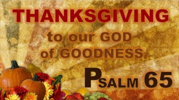 Psalm 65 thankgiving