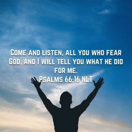 Psalm 66 come and listen