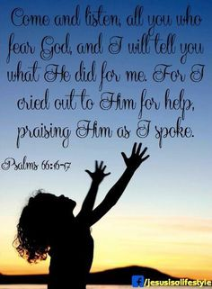 Psalm 66 hands to God