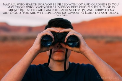 Psalm 70 search for God