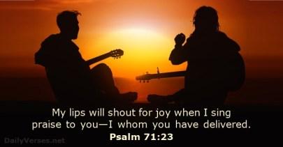 Psalm 71 23 sing