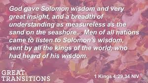 Psalm 72 wisdom of Solomon
