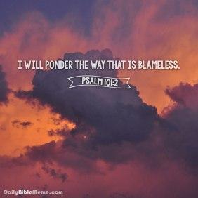 Psalm 101 blameless