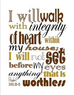 Psalm 101 integrity