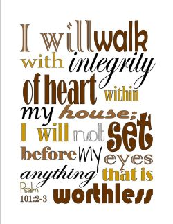 Psalm 101 integrity