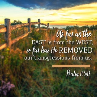 Psalm 103 east to west