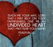 Psalm 86 11 heart