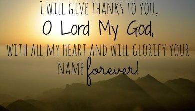 Psalm 86 glory to God