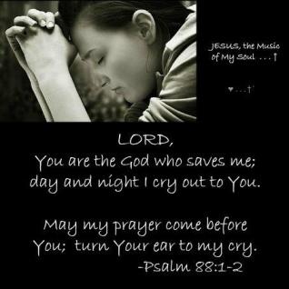 Psalm 88 prayer