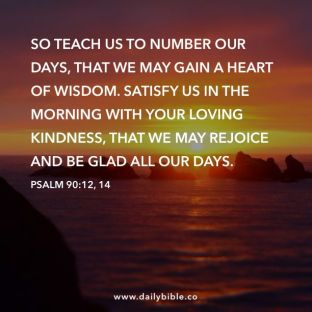 Psalm 90 teach us