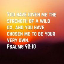 Psalm 92 chosen