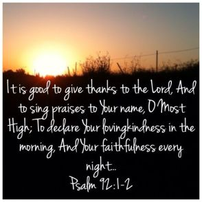 Psalm 92 thanks