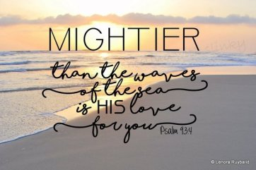 Psalm 93 stronger is love