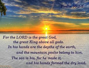 Psalm 95 sea