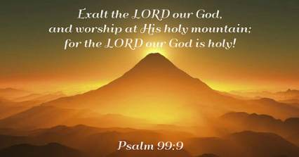 Psalm 99 exalt