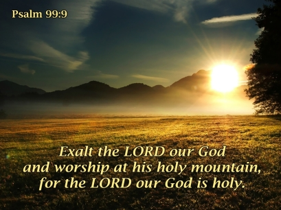 Psalm 99 woship Him