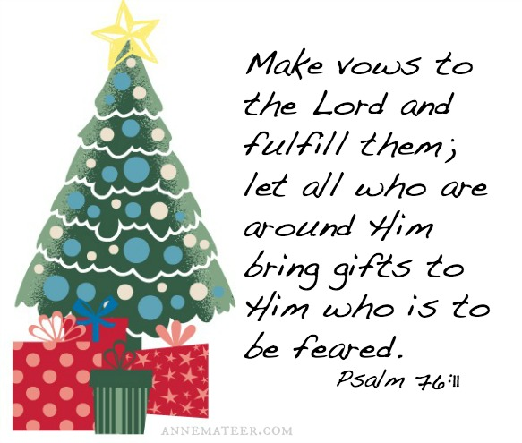 Psalm 76 gifts to God
