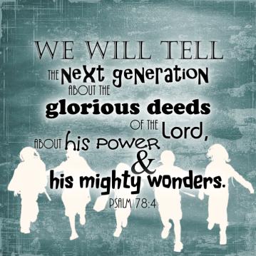 Psalm 78 tell