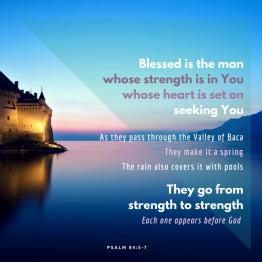 Psalm 84 journey