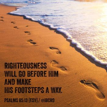 Psalm 85 footsteps