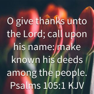 Psalm 105 His Name