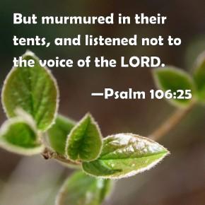 Psalm 106 25