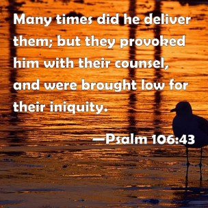 Psalm 106 43