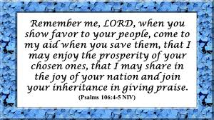 Psalm 106 remember me