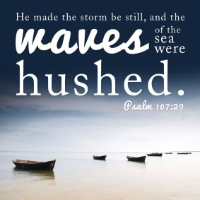 Psalm 107 sea hushed