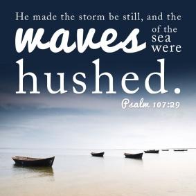 Psalm 107 sea hushed