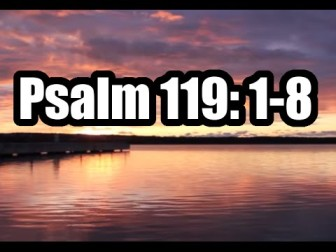 psalm 119 1 8