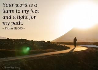 psalm 119 105 light
