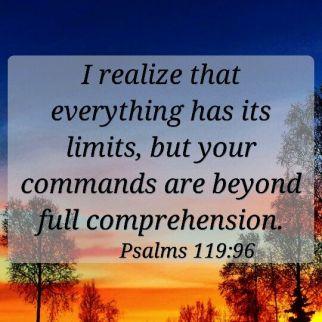 psalm 119 96 limitless