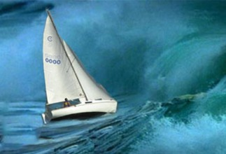 psalm 119 boat in choppy waters
