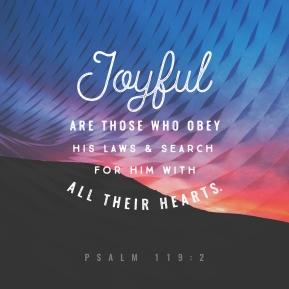 psalm 119 joyful